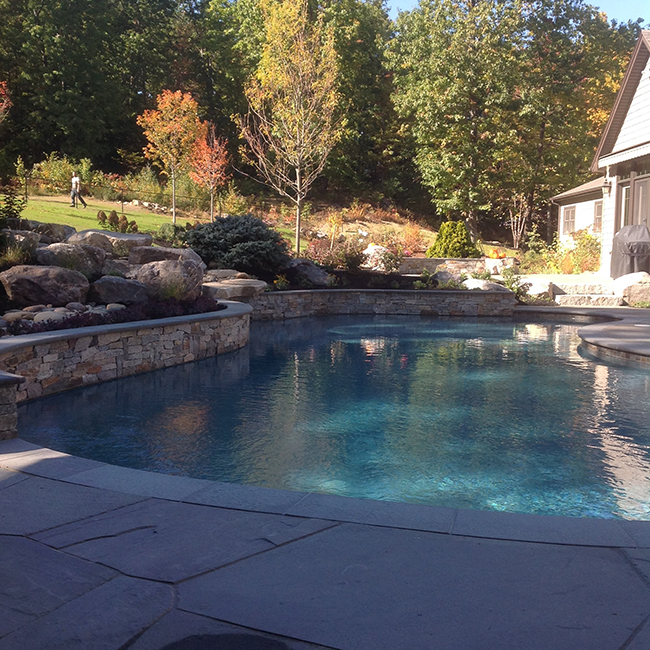 Custom pool, patio, and water feature designer in New Hampshire, CR Hardscapes