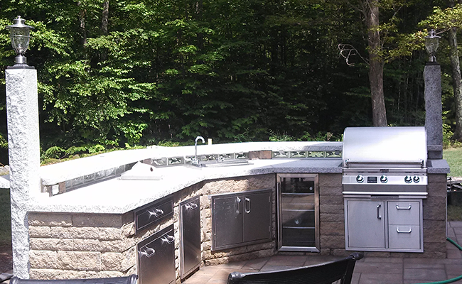 Outdoor Kitchen Design In Bedford New Hampshire